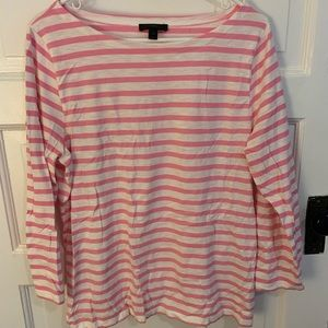 Pink and white striped tee from JCrew